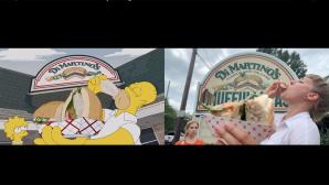 Simpsons Szene nachgestellt©youtube.com