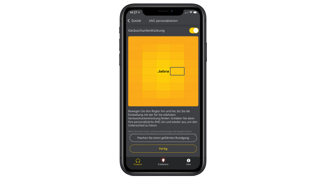 Jabra Elite 75t im Test: Noise Cancelling©Jabra, Apple