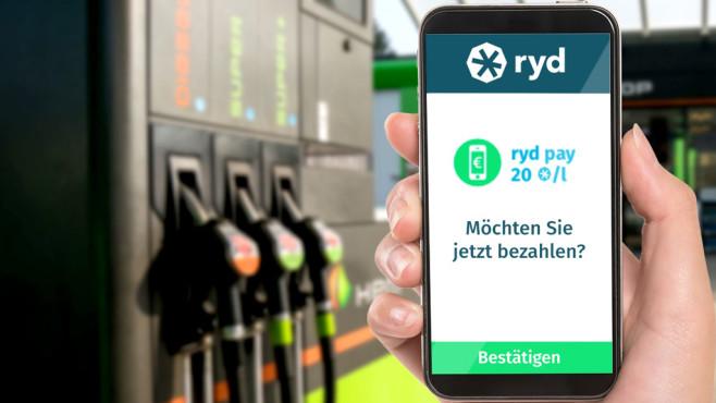 Sprit per Ryd-App mobil bezahlen & Geld sparen©Ryd