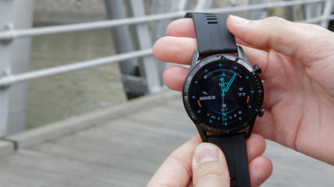 Always-on-Display Huawei Watch GT 2©COMPUTER BILD / Alena Zielinski