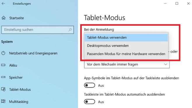 Windows 10: Tablet-Modus deaktivieren – was tun, wenn das scheitert?©COMPUTER BILD