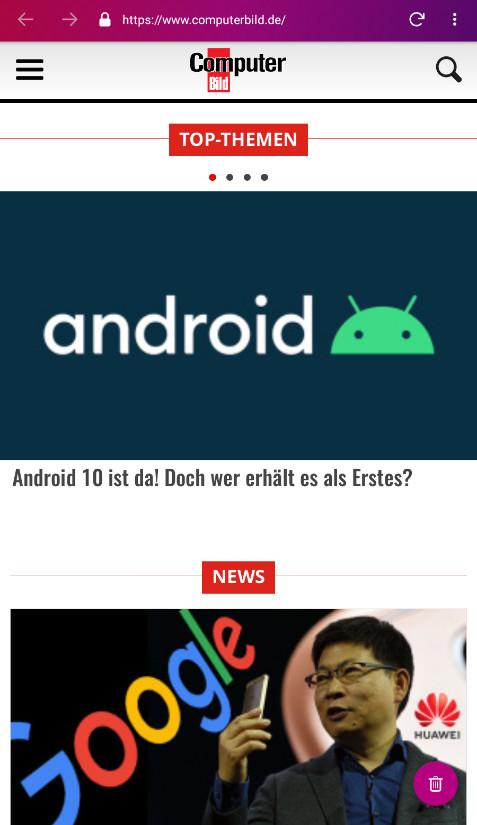 Screenshot 1 - Firefox Klar (Android-App)