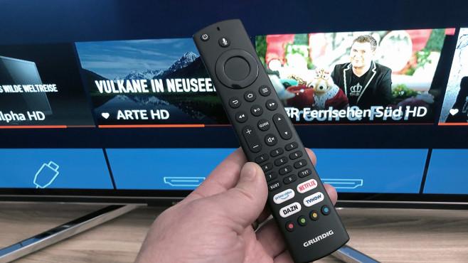 Grundig OLED Fire TV Edition: Fernbedienung©COMPUTER BILD