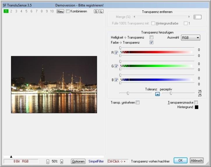 Screenshot 1 - SF TransluSense