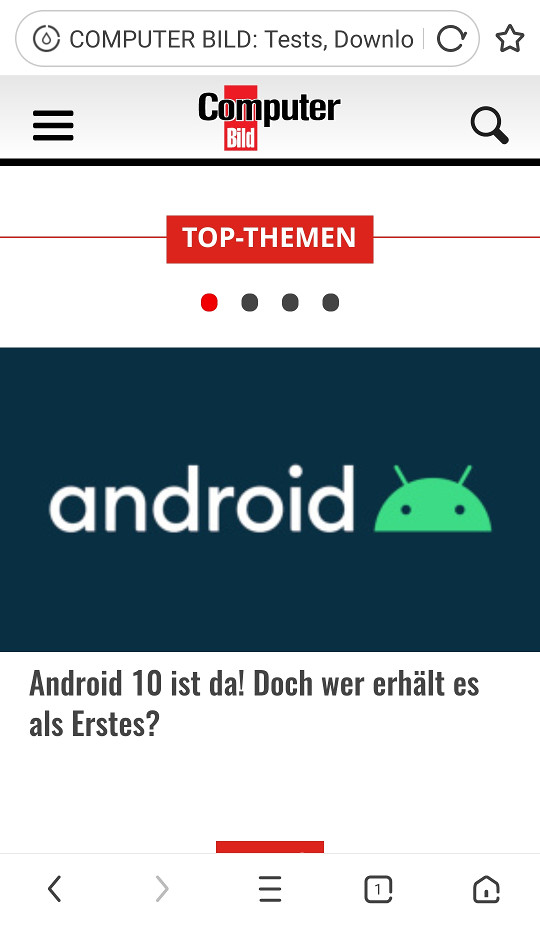 Screenshot 1 - UC Browser (App für iPhone & iPad)