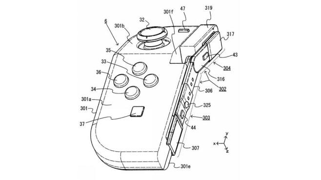 Nintendo Switch: JoyCon-Patent©Nintendo / ipforce.jp