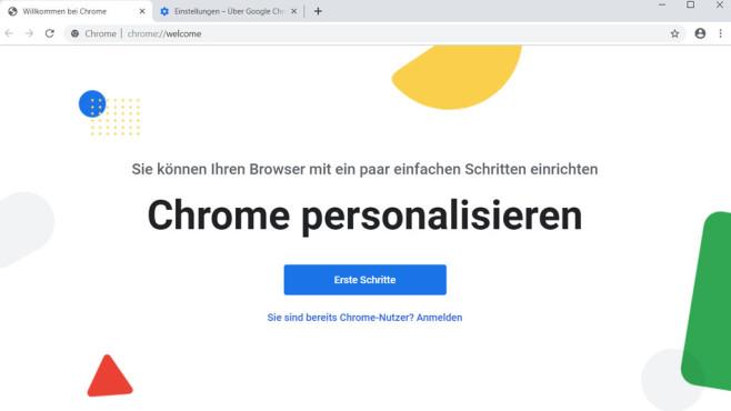 Google Chrome 77: Einrichtungsassistent©COMPUTER BILD