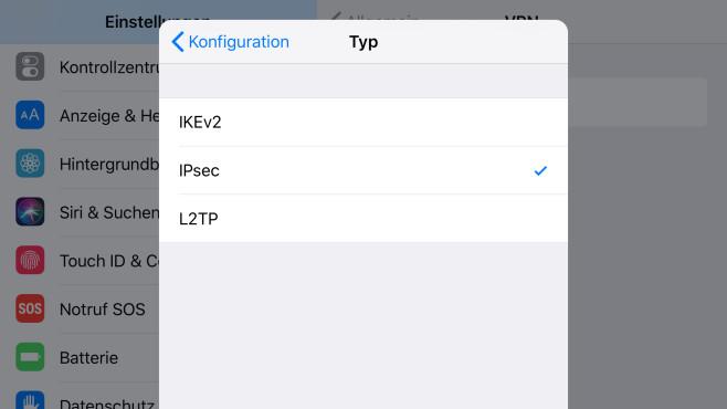 iPhone VPN einrichten: IPsec©COMPUTER BILD
