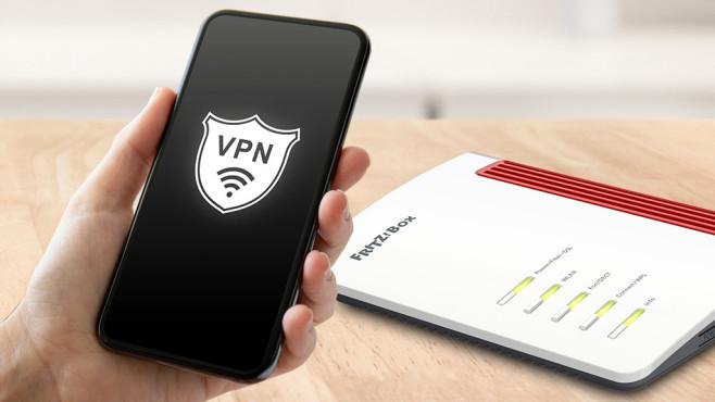 iPhone mit VPN: Ihr Heimnetzwerk in der Hosentasche Die FritzBox ist für den VPN-Betrieb mit dem iPhone schnell eingerichtet.©iStock.com/Prykhodov, FritzBox, AVM