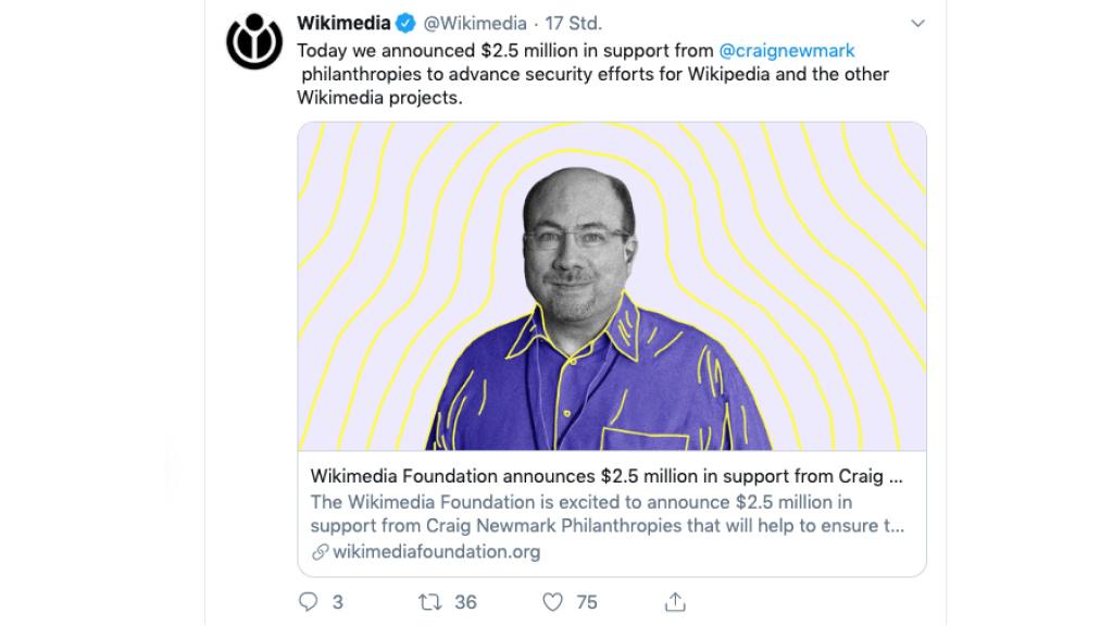 Nach Hacker-Angriff auf Wikipedia: Spende für die Sicherheit