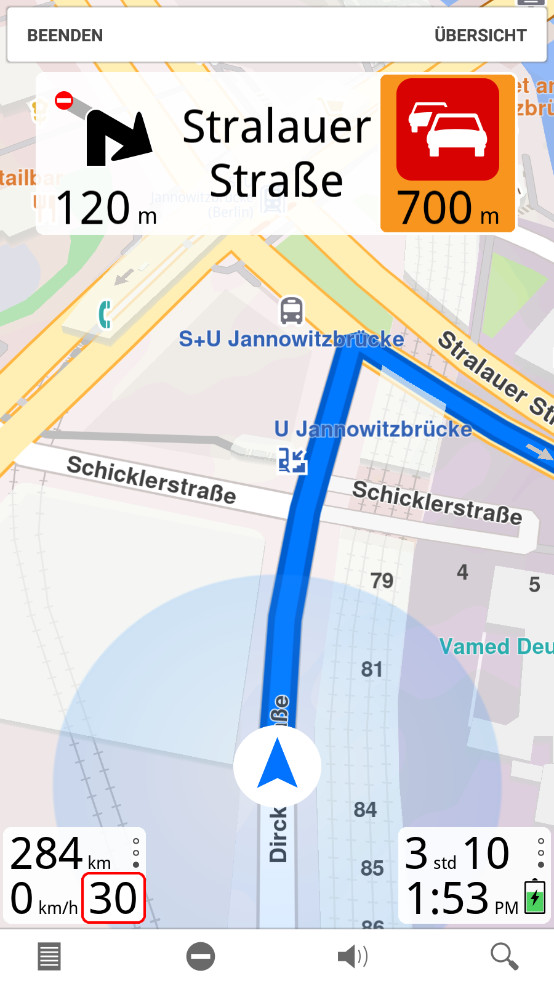 Screenshot 1 - Magic Earth Navigation & Maps (Android-App)