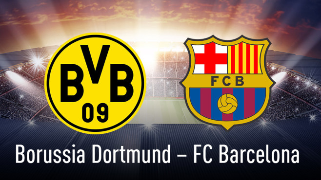 Borussia Dortmund gegen FC Barcelona©Borussia Dortmund, FC Barcelona, iStock-Fotos Mannschaftssport