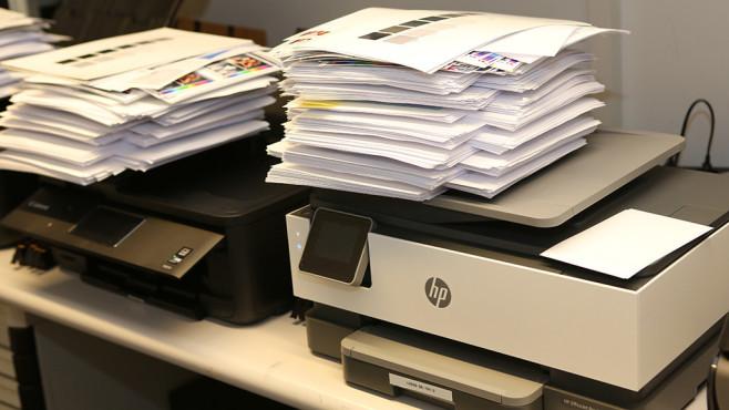 HP OfficeJet Pro 8022 Härtetest©HP, Canon, Computer Bild