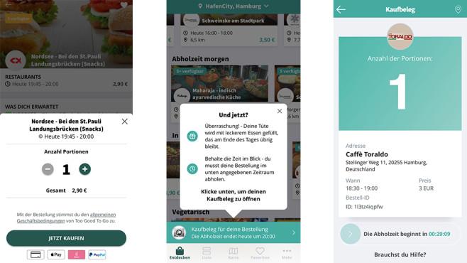 App gegen Lebensmittelverschwendung©COMPUTER BILD, Too Good To Go
