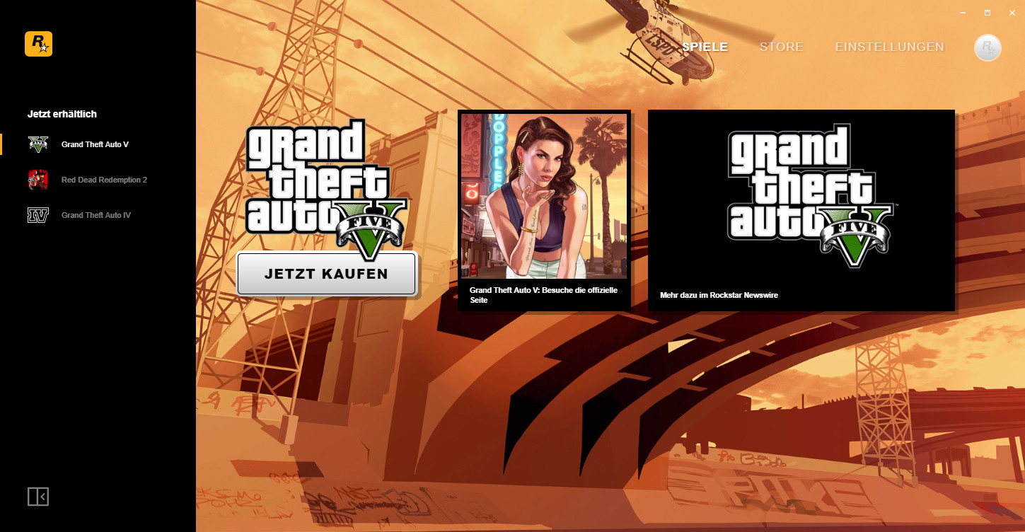 Screenshot 1 - Rockstar Games Launcher