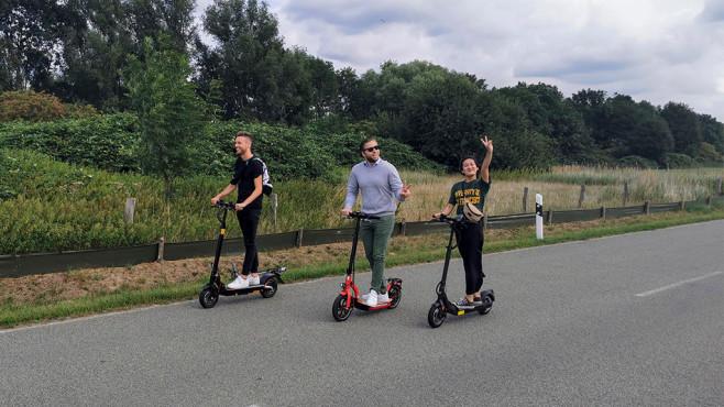 Drei Rollerfahrer©COMPUTER BILD