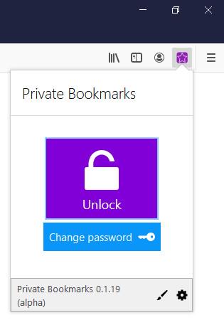Screenshot 1 - Private Bookmarks für Firefox