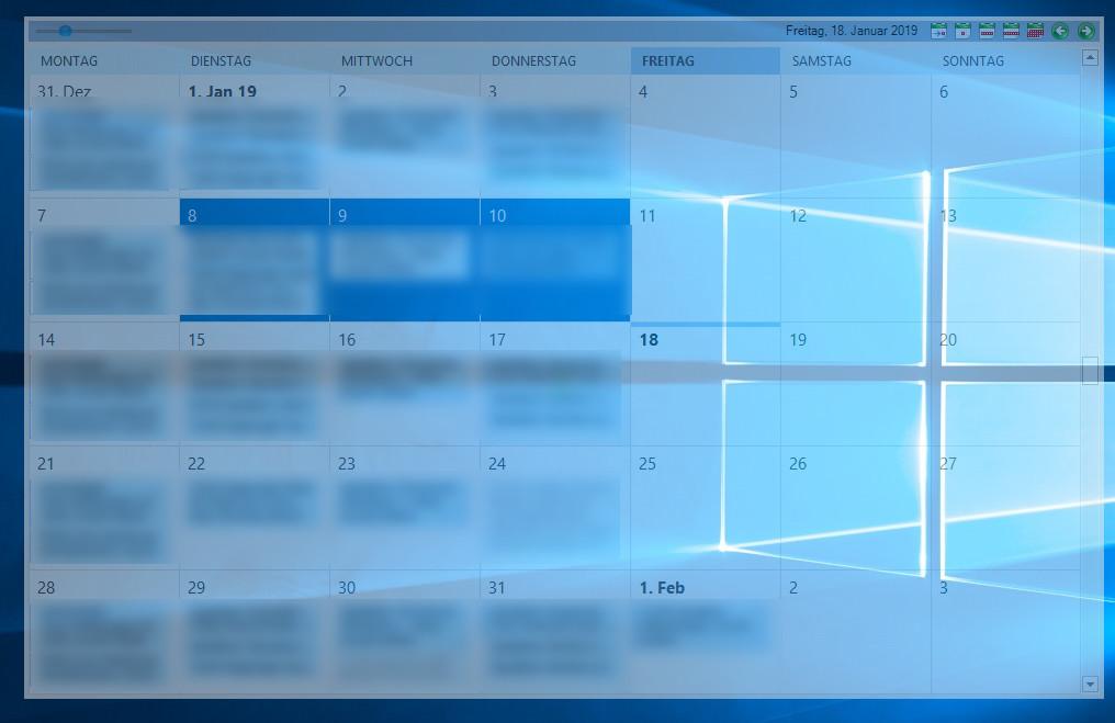 Screenshot 1 - Outlook on the Desktop