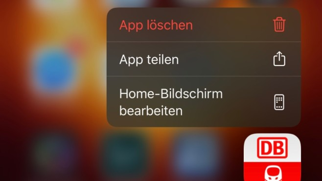 Apple iOS 13.2: Menü zum App-Löschen©COMPUTER BILD