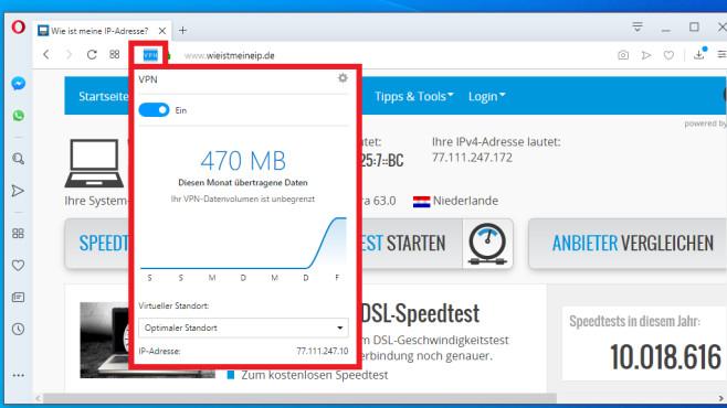 Opera VPN: So nutzen Sie die schlanke Browser-Anonymisierung©COMPUTER BILD