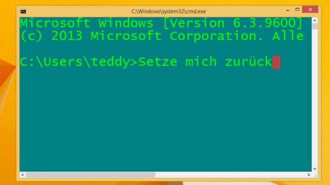 Windows 7/8/10: CMD-Befehl zum Reset von Kommandozeile und OS©COMPUTER BILD