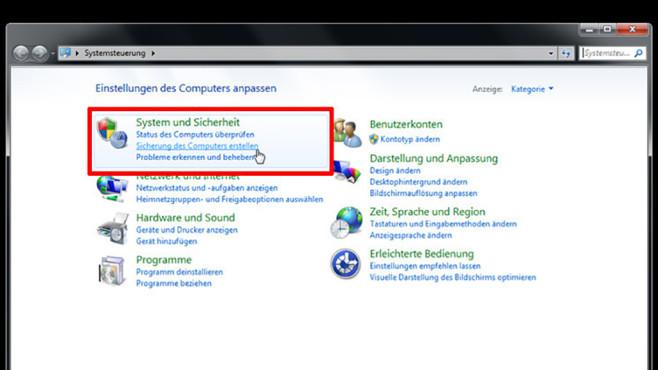 Windows-7-Backup: Image zurückspielen – Backup-Programm starten©COMPUTER BILD