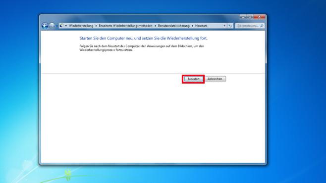 Windows-7-Backup: Image zurückspielen – Systemabbild verwenden©COMPUTER BILD