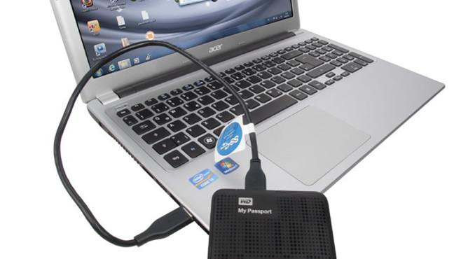 Windows-7-Backup: Schnellsicherung – Laufwerk anschließen©COMPUTER BILD