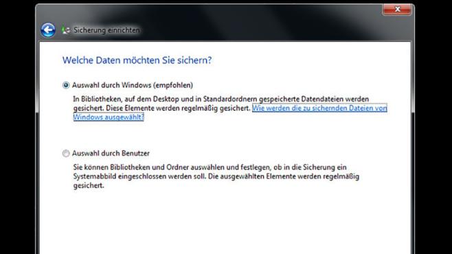 Windows-7-Backup: Schnellsicherung – Sicherungsumfang festlegen©COMPUTER BILD