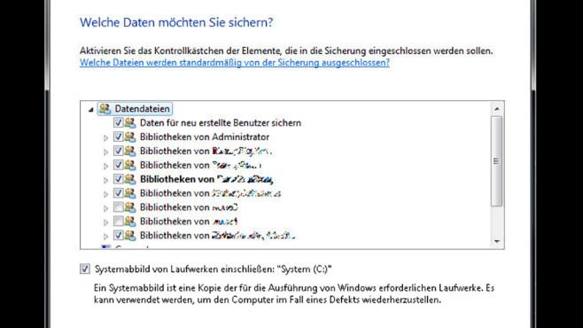 Windows-7-Backup: Sicherungsplan – Umfang festlegen©COMPUTER BILD