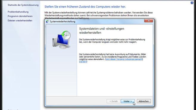 Windows-7-Backup: Windows zurücksetzen – Systemwiederherstellung starten 2©COMPUTER BILD