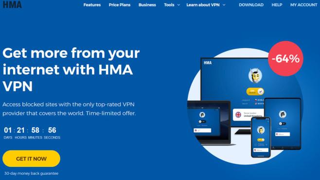 """VPN-Dienst im Check: HideMyAss erfindet sich neu Byebye HideMyAss: Mit """"HMA-VPN"""" legt der bekannte VPN-Anbieter einen kompletten Neustart hin. Auf der englischen Internetpräsenz des Anbieters sucht man den alten Namen bereits vergeblich.©HMA"""