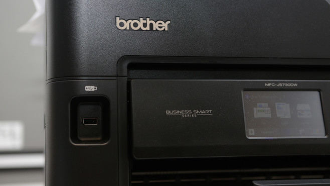 Brother MFC-J5730DW: USB-Buchse © Brother, COMPUTER BILD