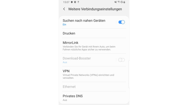 VPN für Android: VPN-Menü öffnen©COMPUTER BILD