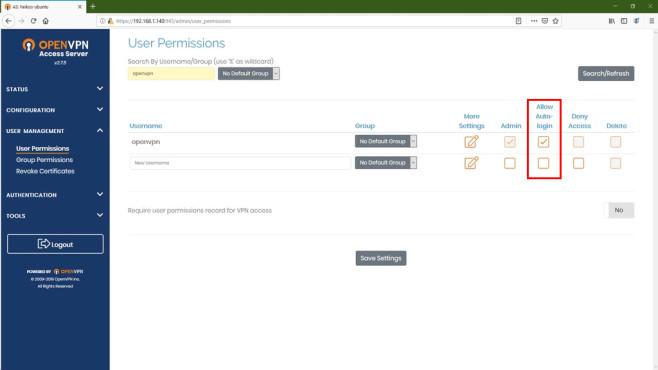OpenVPN-Ratgeber: Autologin im Server©COMPUTER BILD