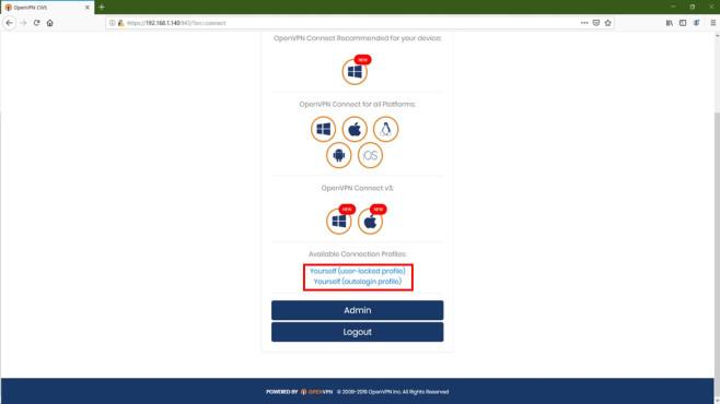 OpenVPN-Ratgeber: Links im Client-Menü©COMPUTER BILD