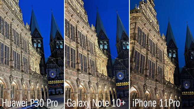 Nachtfotografie: Huawei vs. Samsung vs. Apple©COMPUTER BILD