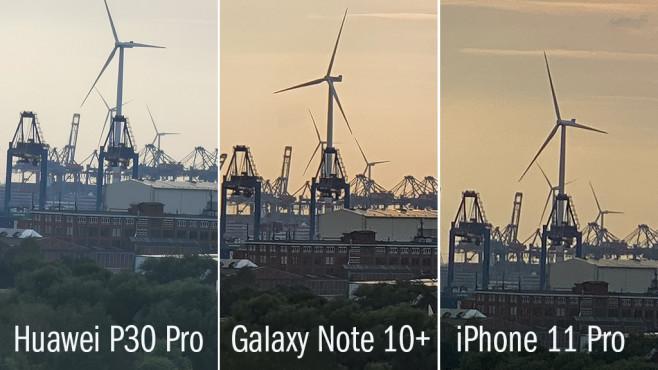 Zoom-Vergleich Huawei vs. Samsung vs. Apple©COMPUTER BILD