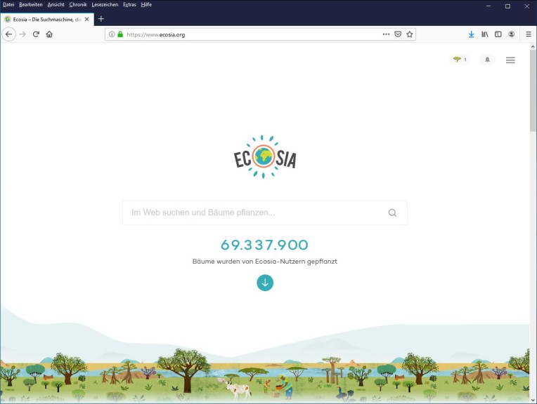 Screenshot 1 - Ecosia
