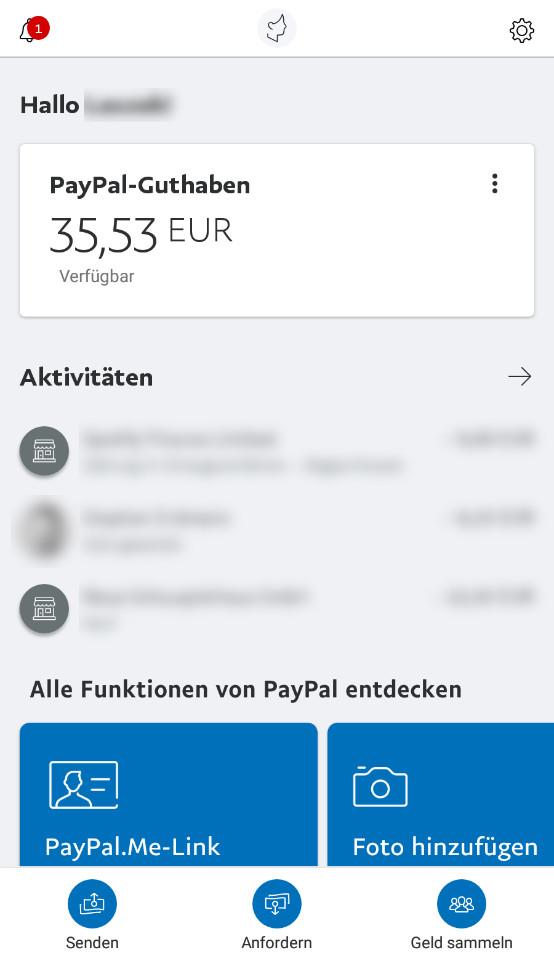 Screenshot 1 - PayPal (App für iPhone & iPad)