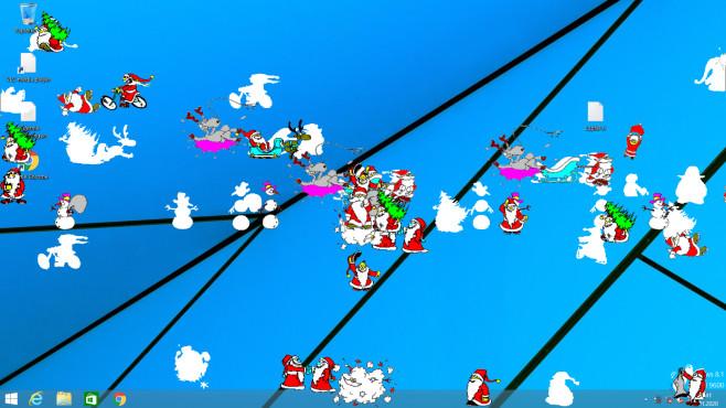Weihnachten: Bilder, Karten und Desktop-Dekoration mit Gratis-Software Je öfter Sie das portable xmasfred.exe starten, desto turbulenter geht es an Ihrem PC zu.©COMPUTER BILD