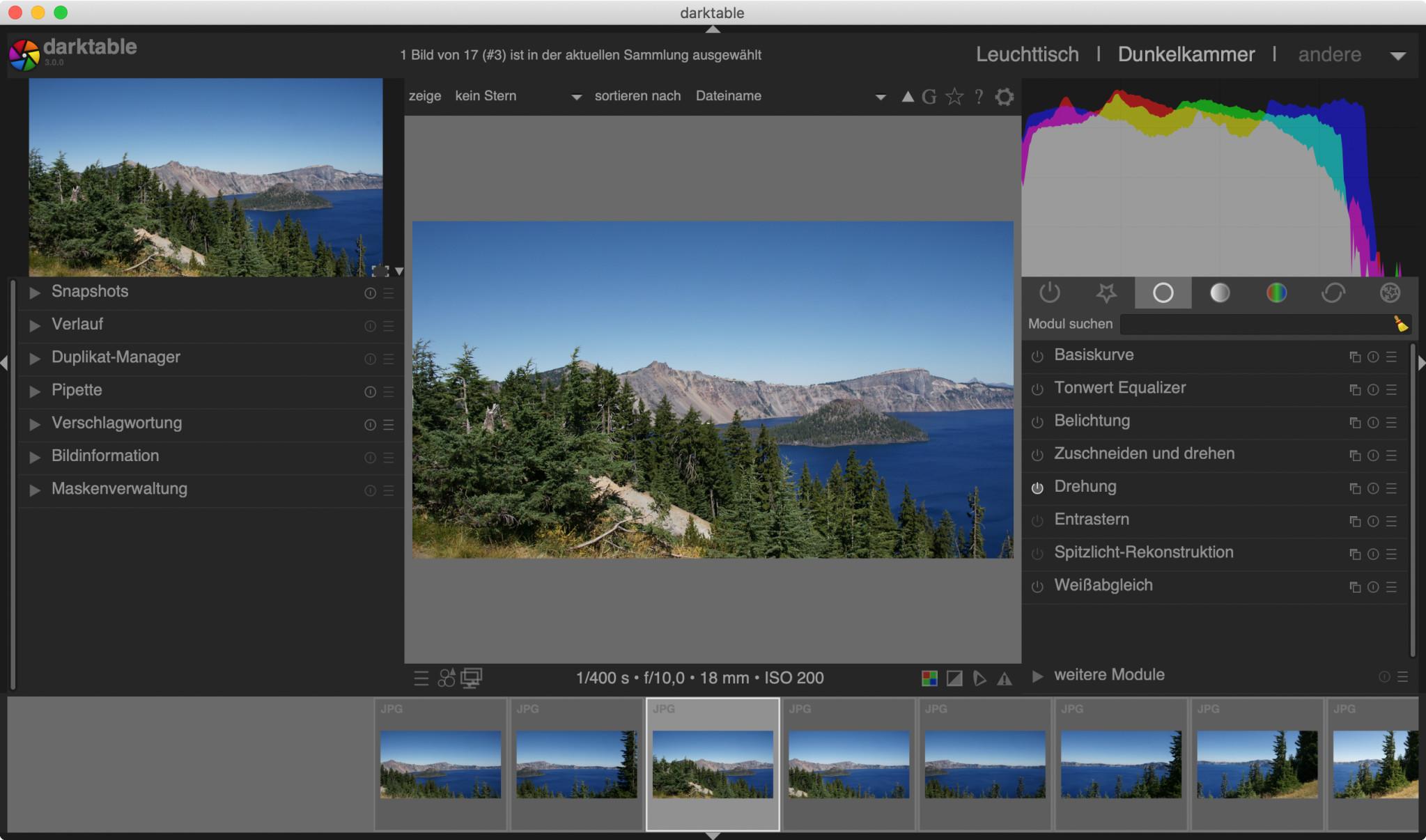 Screenshot 1 - Darktable (Mac)