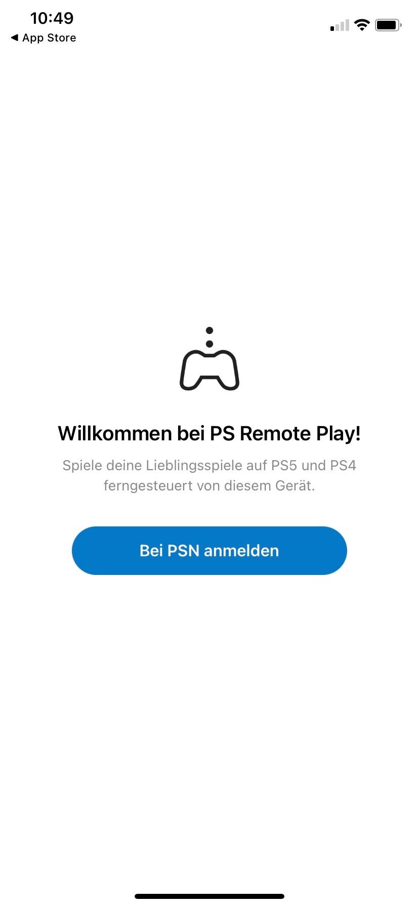 Screenshot 1 - PS Remote Play (App für iPhone & iPad)