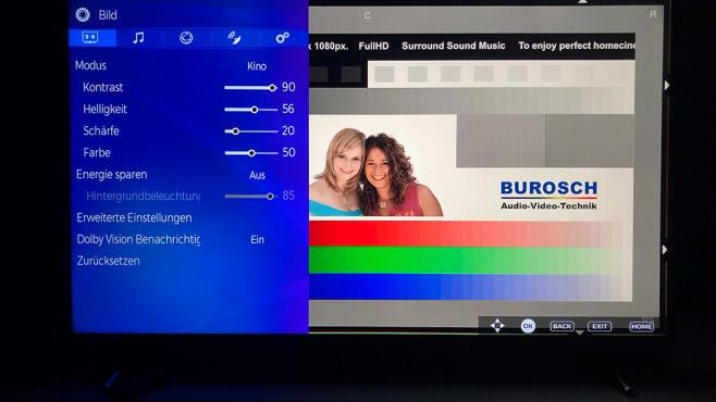 Medion Life X15060 Ultra HD Smart-TV: Menü-Einstellung©COMPUTER BILD