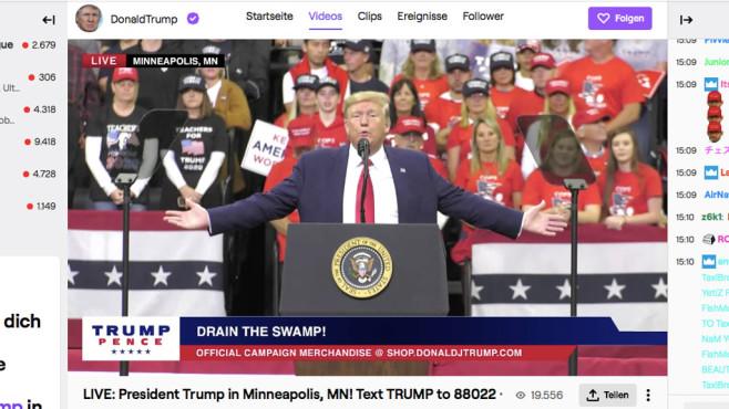 Trump: Twitch©Twitch
