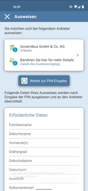 AusweisApp2 (Android-App)