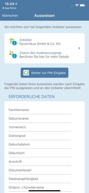 AusweisApp2 (App für iPhone & iPad)