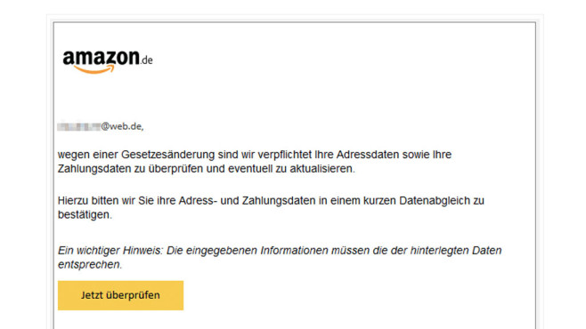Amazon: Phishing©mimikama.at