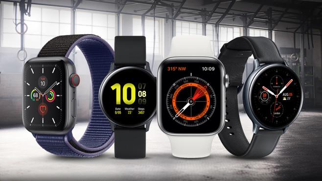 Apple Watch vs. Galaxy Watch©iStock.com/Hiraman, Apple, Samsung