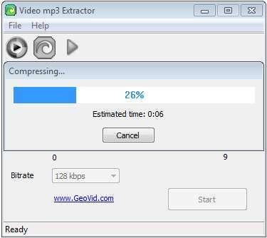 Screenshot 1 - Video MP3 Extractor